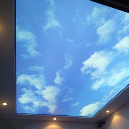 Опънати тавани с небе в Бургас | Тавани с небесен ефект